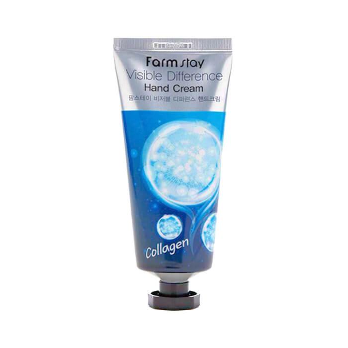 Купить Крем для рук FarmStay Visible Difference Hand Cream Collagen, Питательный крем для комплексного ухода за кожей рук с коллагеном, Южная Корея