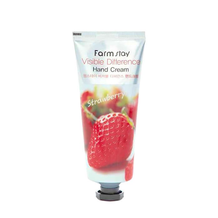 Купить Крем для рук FarmStay Visible Difference Hand Cream Strawberry, Питательный крем для комплексного ухода за кожей рук с экстрактом клубники, Южная Корея