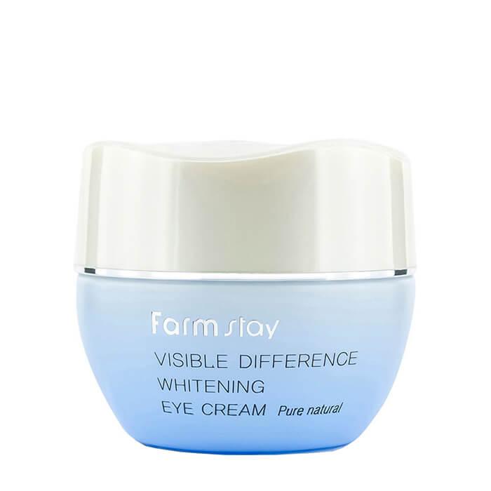 Купить Крем для век FarmStay Visible Difference Whitening Eye Cream, Осветляющий крем с коллагеном для выравнивания тона кожи в области вокруг глаз, Южная Корея