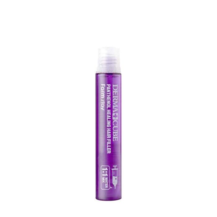Купить Филлер для волос FarmStay Derma Cube Panthenol Healing Hair Filler (1 шт.), Питательный филлер с пантенолом и гидролизованным шёлком для сухих ломких волос, Южная Корея