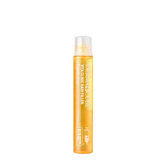 Купить Филлер для волос FarmStay Derma Cube Vita Clinic Hair Filler (1 шт.), Витаминизирующий филлер с витаминным комплексом и аминокислотами для тусклых волос, Южная Корея