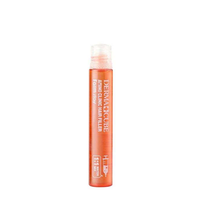 Купить Филлер для волос FarmStay Derma Cube Amino Clinic Hair Filler (1 шт.), Интенсивный филлер с аминокислотами для восстановления ломких пористых волос, Южная Корея
