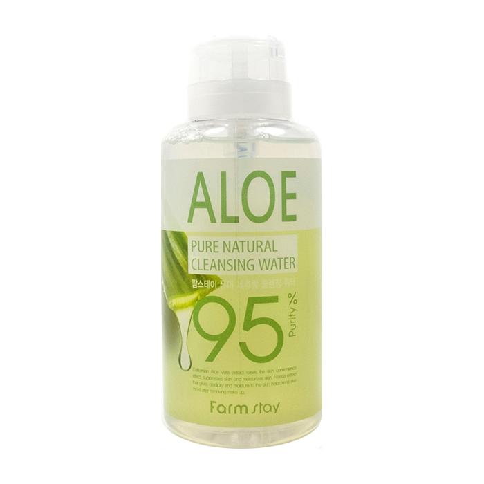 Купить Очищающая вода FarmStay Pure Natural Cleansing Water Aloe, Многофункциональное средство для удаления макияжа с экстрактом алоэ вера, Южная Корея