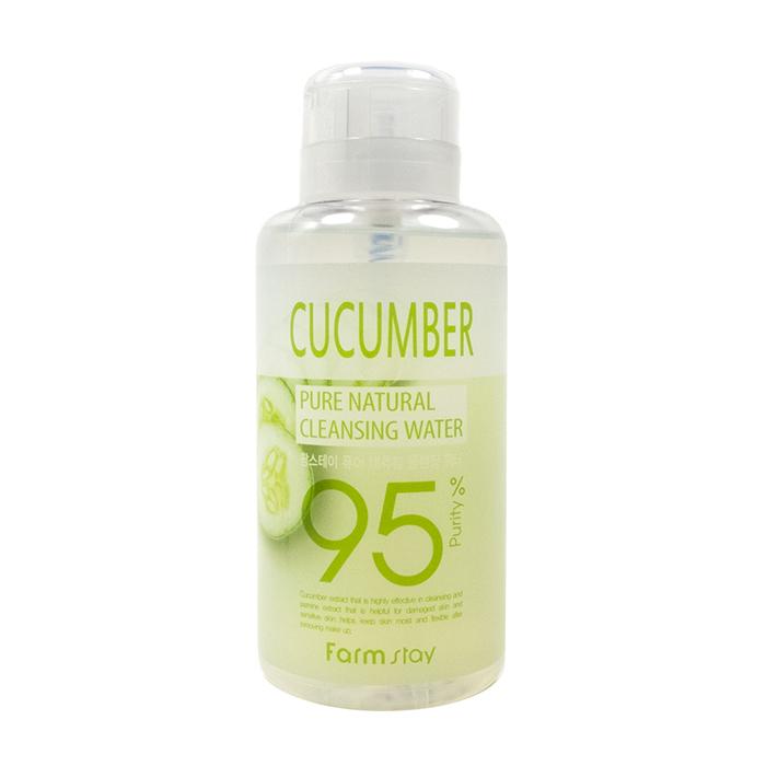 Купить Очищающая вода FarmStay Pure Natural Cleansing Water Cucumber, Многофункциональное средство для удаления макияжа с экстрактом огурца, Южная Корея