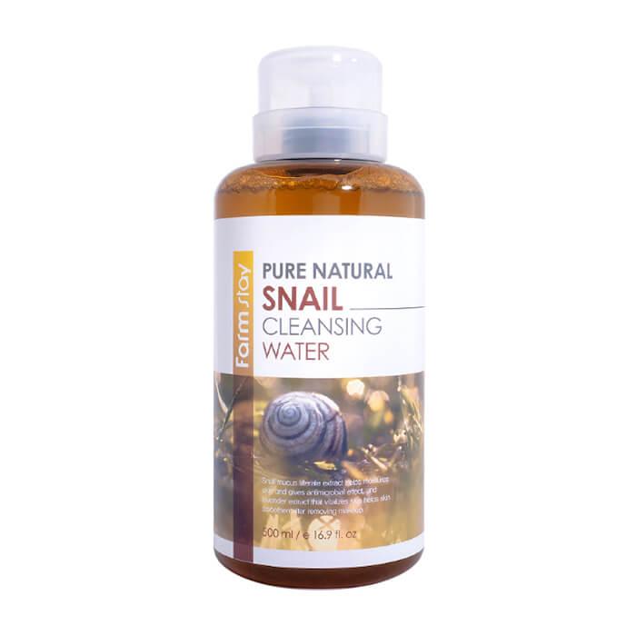 Купить Очищающая вода FarmStay Pure Natural Cleansing Water Snail, Многофункциональное средство для удаления макияжа с муцином улитки, Южная Корея