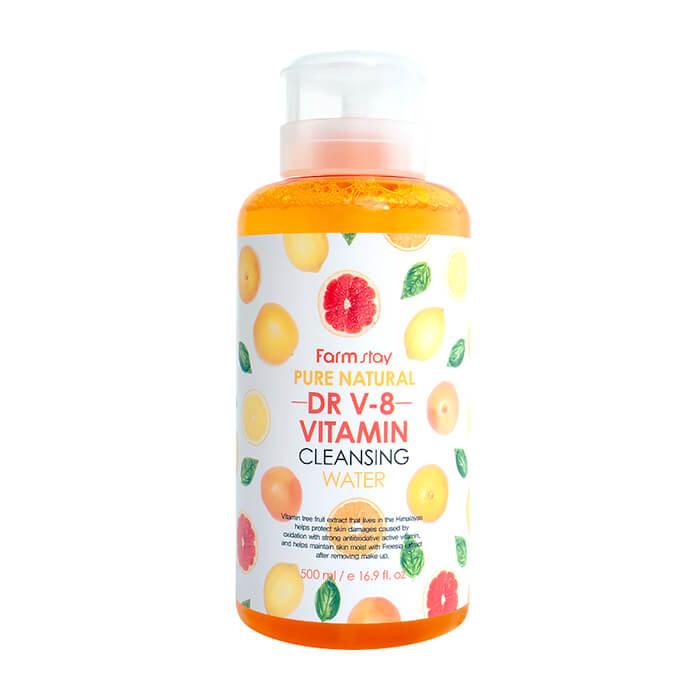 Купить Очищающая вода FarmStay Pure Natural Cleansing Water Vitamin, Многофункциональное средство для удаления макияжа с витаминным комплексом, Южная Корея