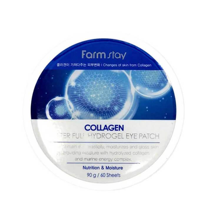 Купить Патчи для глаз FarmStay Collagen Waterfull Hydrogel Eye Patch, Гидрогелевые патчи для глаз на основе коллагена, Южная Корея