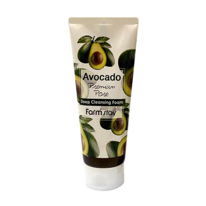 Купить Пенка для лица FarmStay Avocado Premium Pore Deep Cleansing Foam, Очищающая пенка для лица с маслом авокадо, Южная Корея