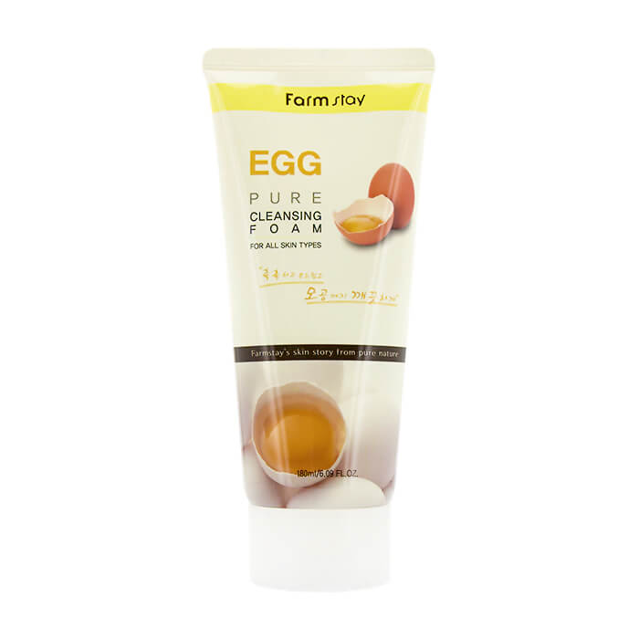 Купить Пенка для лица FarmStay Egg Pure Cleansing Foam, Очищающая пенка для лица с яичным экстрактом, Южная Корея