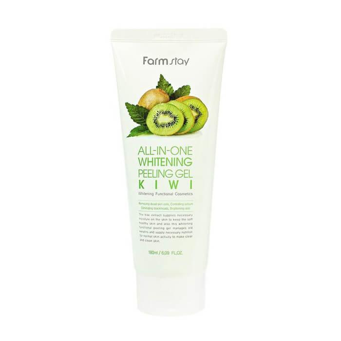 Купить Пилинг-скатка для лица FarmStay All In One Whitening Peeling Gel Cream Kiwi, Гель-скатка для лица с экстрактом киви, Южная Корея