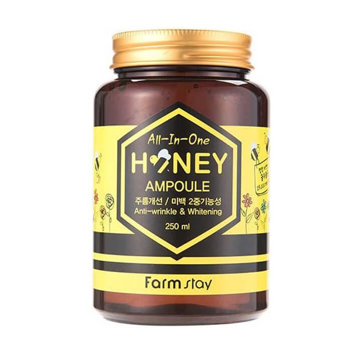 Купить Сыворотка для лица FarmStay AII-In-One Honey Ampoule, Многофункциональная сыворотка для лица с экстрактом меда, Южная Корея