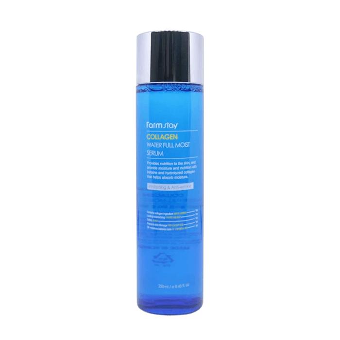 Купить Сыворотка для лица FarmStay Collagen Water Full Moist Serum, Коллагеновая сыворотка для увлажнения сухой кожи лица, Южная Корея