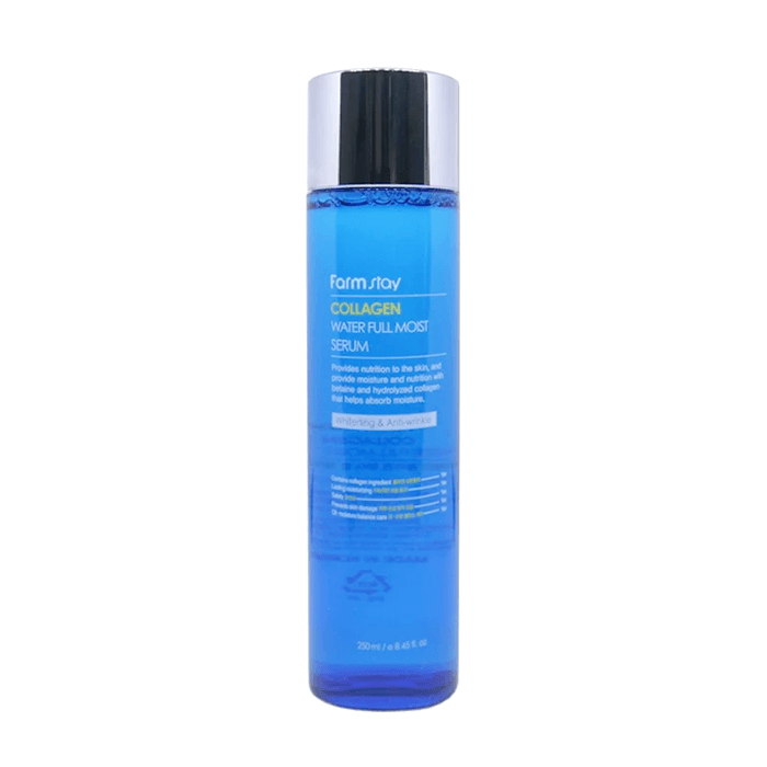 Сыворотка для лица FarmStay Collagen Water Full Moist Serum Коллагеновая сыворотка для увлажнения сухой кожи лица