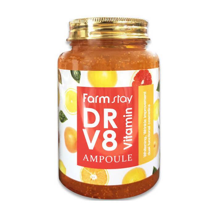Сыворотка для лица FarmStay Dr-V8 Vitamin Ampoule Многофункциональная витаминная сыворотка для лица фото