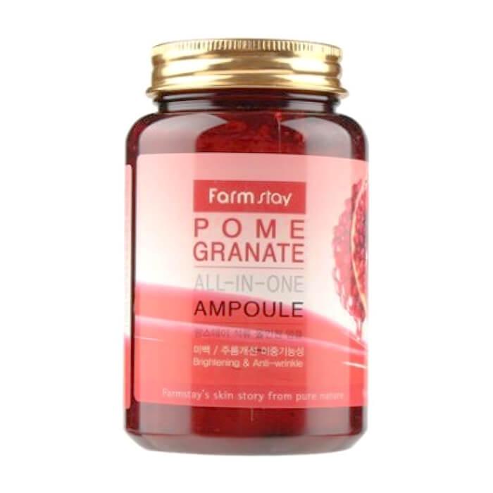 Купить Сыворотка для лица FarmStay Pomegranate All-In One Ampoule, Многофункциональная ампульная сыворотка для лица с экстрактом граната, Южная Корея