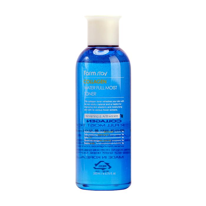 Купить Тонер для лица FarmStay Collagen Water Full Moist Toner, Коллагеновый тонер для увлажнения сухой кожи лица, Южная Корея