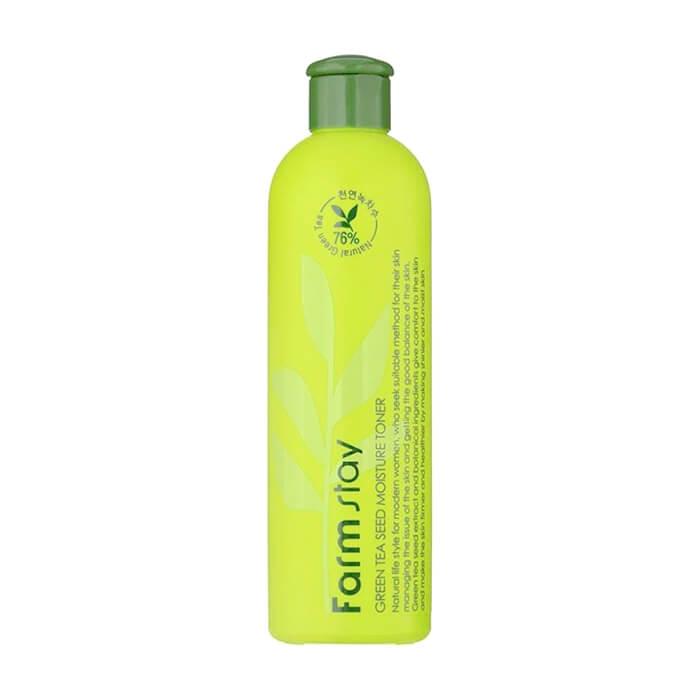Купить Тонер для лица FarmStay Green Tea Seed Moisture Toner, Увлажняющий тонер для лица с экстрактом семян зеленого чая, Южная Корея