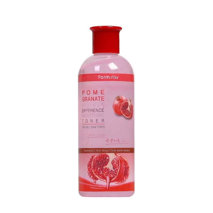 Купить Тонер для лица FarmStay Visible Difference Moisture Toner Pomegranate, Антивозрастной тонер для повышения упругости лица с экстрактом граната, Южная Корея