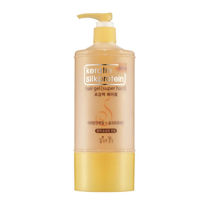 Купить Гель для волос Man with Flowers Keratin Silkprotein Super Hard Hair Gel, Гель с сильной фиксацией для укладки волос с протеинами шёлка, Flor de Man, Южная Корея