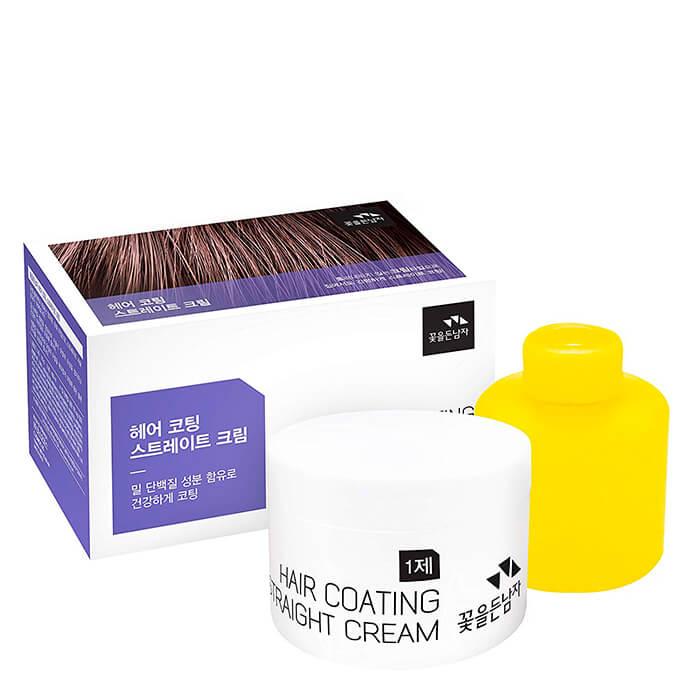 Крем для волос Man with Flowers Hair Coating Straight Cream.