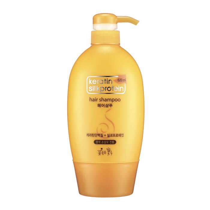 Шампунь для волос Man with Flowers Keratin Silkprotein Hair Shampoo.