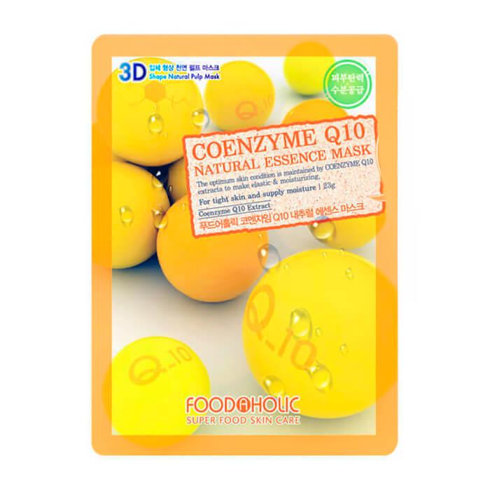 Купить 3D Маска для лица FoodaHolic Coenzyme Q10 Natural Essence 3D Mask, Тканевая 3Д маска для лица с коэнзимом Q10, Южная Корея