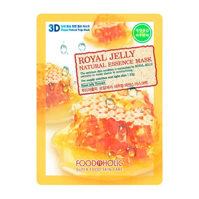 Купить 3D Маска для лица FoodaHolic Royal Jelly Essence 3D Mask, Тканевая 3Д маска для лица с экстрактом пчелиного маточного молочка, Южная Корея