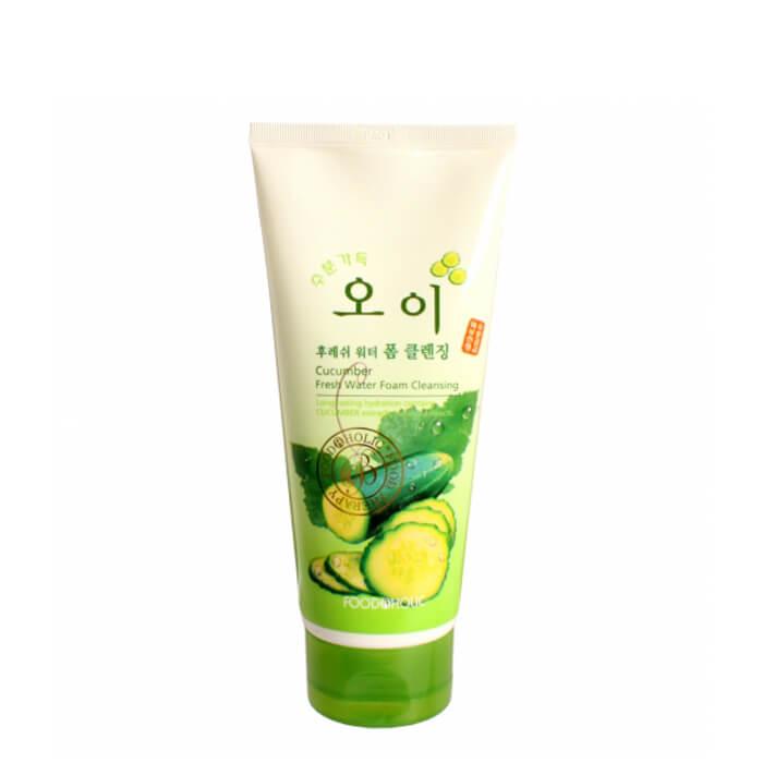 Купить Очищающая пенка FoodaHolic Cucumber Fresh Water Foam Cleansing, Пенка для умывания лица с экстрактом огурца, Южная Корея