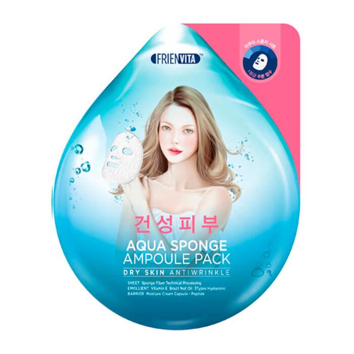 Ампульная маска Frienvita Aqua Sponge Ampoule Mask Dry Skin Ампульная маска для лица с гиалуроновой кислотой и пептидами