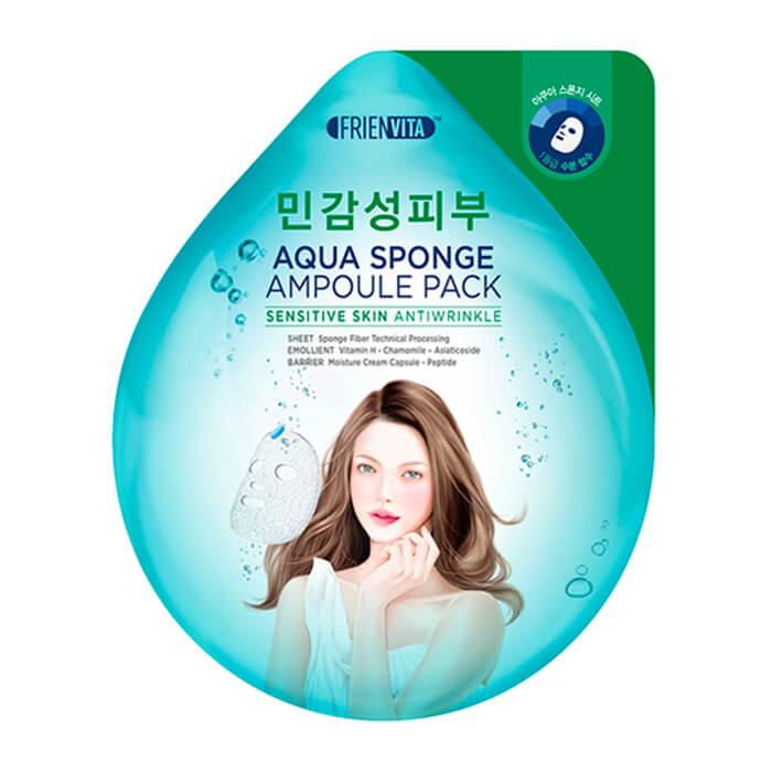 Ампульная маска Frienvita Aqua Sponge Ampoule Mask Sensitive Skin, Ампульная маска для лица с гиалуроновой кислотой и экстрактом центеллы, Южная Корея  - Купить