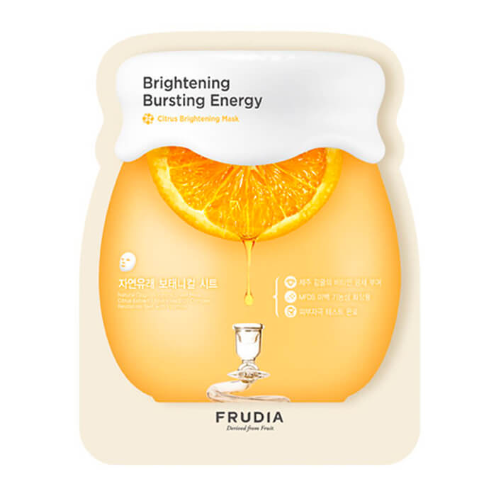 Купить Тканевая маска Frudia Citrus Brightening Mask, Осветляющая тканевая маска для лица с 46% экстрактом цедры мандарина, Южная Корея