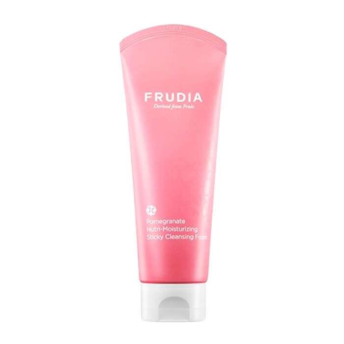 Купить Очищающая пенка Frudia Pomegranate Nutri-Moisturizing Sticky Cleansing Foam, Питательная пенка для умывания лица с экстрактом граната, Южная Корея