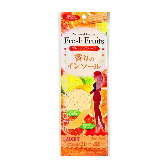 Купить Женские стельки Fudo Kagaku Refreshinsole Fresh Fruits (21-26 см), Женские мягкие дышащие стельки для обуви с ароматом фруктов, Япония