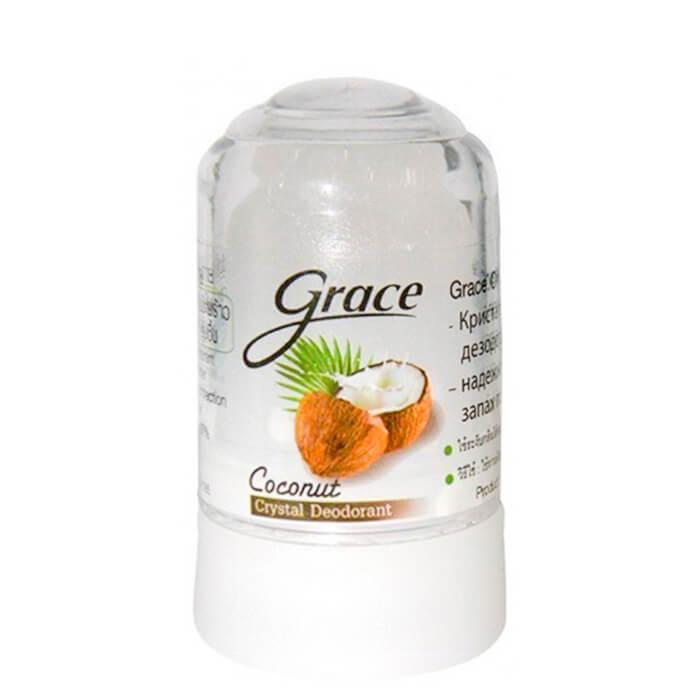 Купить Дезодорант стик Grace Crystal Deodorant - Coconut, Минеральный дезодорант-кристалл с ароматом кокоса, Таиланд