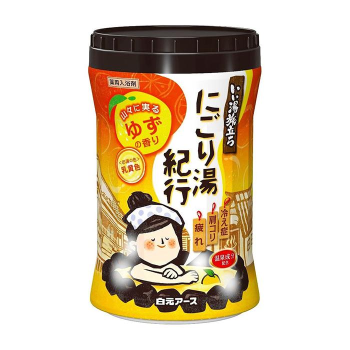 Купить Соль для ванны Hakugen Earth Yuzu, Увлажняющая соль для ванны с восстанавливающим эффектом и ароматом юдзу, Япония