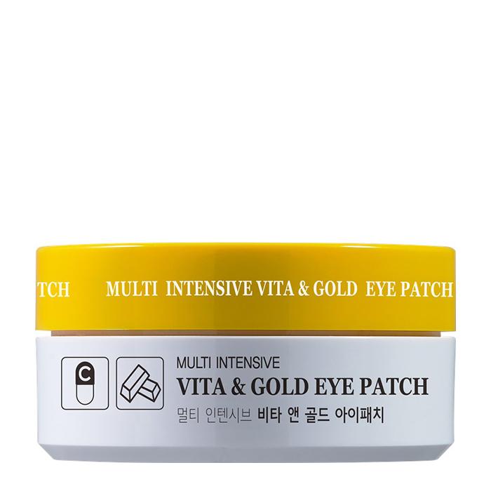 Купить Патчи для век HANIxHANI Multi Intensive Vita & Gold Eye Patch, Осветляющие гидрогелевые патчи для кожи вокруг глаз с витаминами и коллоидным золотом, Южная Корея