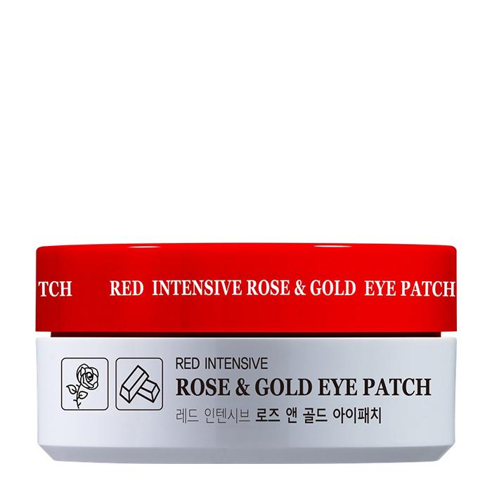Купить Патчи для век HANIxHANI Red Intensive Rose & Gold Eye Patch, Успокаивающие гидрогелевые патчи для кожи вокруг глаз с экстрактом розы и коллоидным золотом, Южная Корея