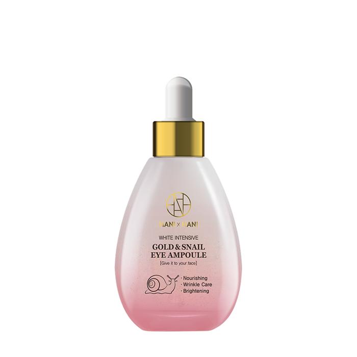 Купить Сыворотка для лица HANIxHANI White Intensive Gold & Snail Ampoule, Сыворотка для кожи лица и области вокруг глаз с фильтратом секрета улитки и коллоидным золотом, Южная Корея