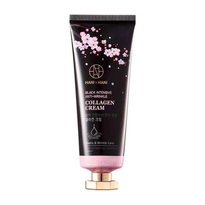 Купить Крем для лица HANIxHANI Black Intensive Anti-Wrinkle Collagen Cream, Увлажняющий крем для лица с коллагеном и гиалуроновой кислотой, Южная Корея