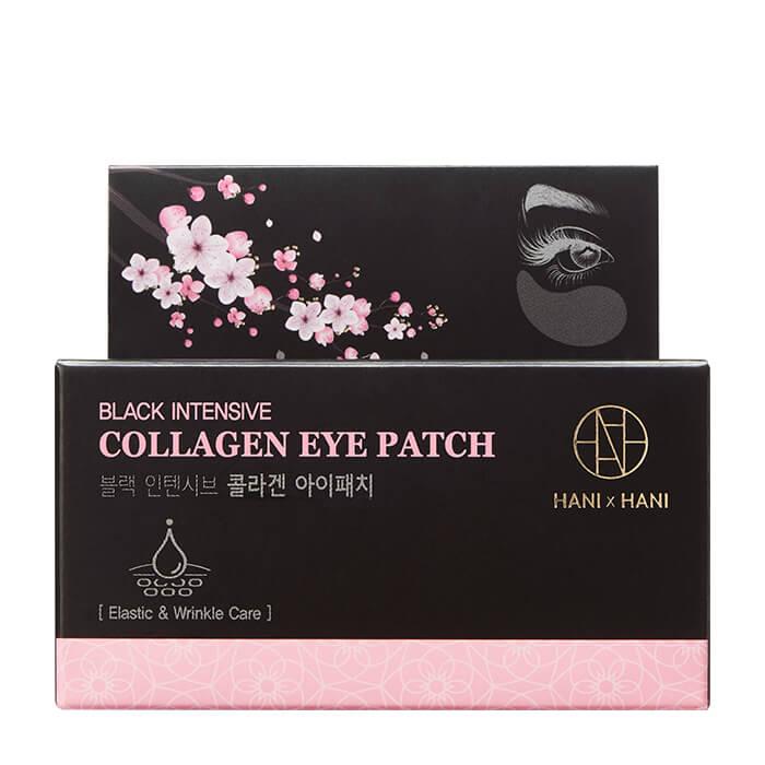 Патчи для век HANIxHANI Black Intensive Collagen Eye Patch Увлажняющие гидрогелевые патчи для кожи вокруг глаз с коллагеном фото