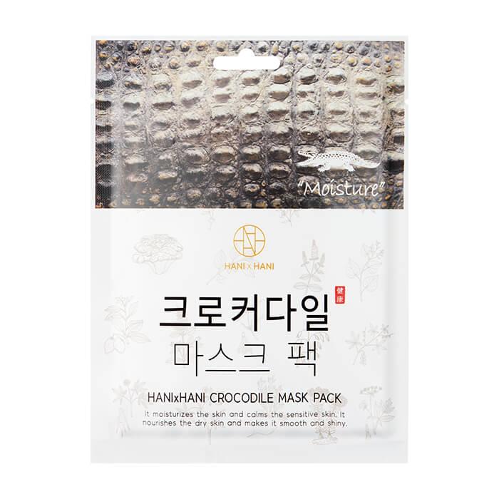 Купить Тканевая маска HANIxHANI Crocodile Mask Pack, Антивозрастная тканевая маска для лица c экстрактом крокодильего жира, Южная Корея