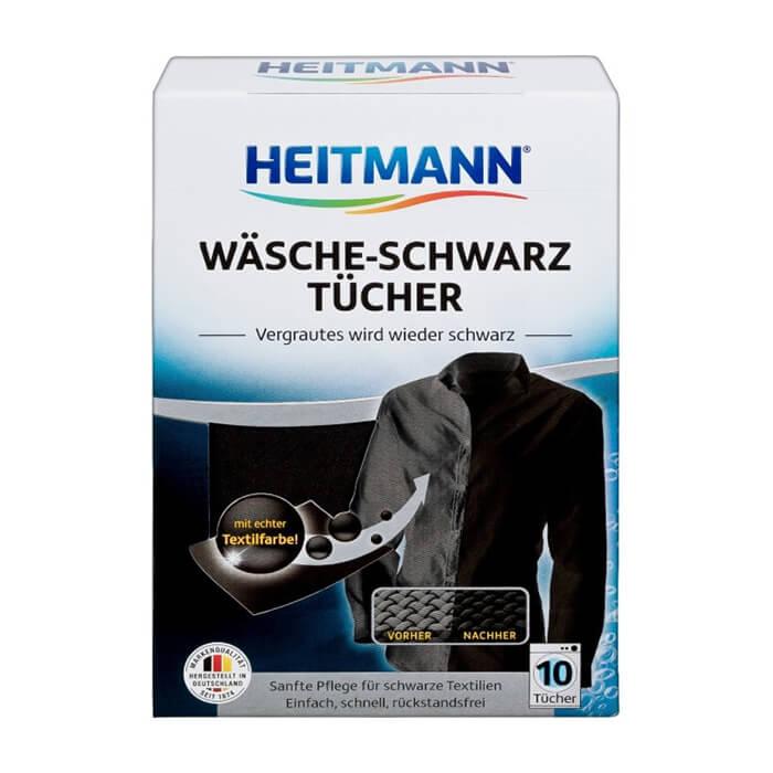 Салфетки для стирки Heitmann Wasche-Schwarz Tucher (8 шт.) Cалфетки для сохранения цвета чёрного белья во время стирки фото