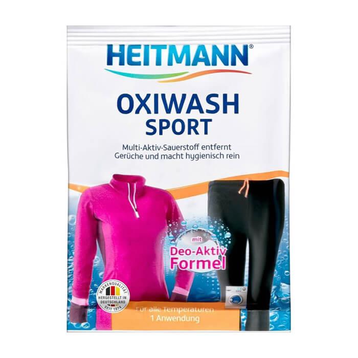 Купить Средство для стирки Heitmann Oxiwash Sport, Средство для ухода за спортивной одеждой с дезодорирующей формулой, Германия
