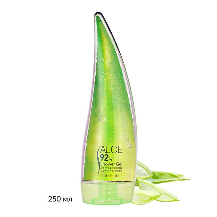 Купить Гель для душа Holika Holika Aloe 92% Shower Gel, Гель для душа с 92% содержанием экстракта сока алоэ вера, Южная Корея