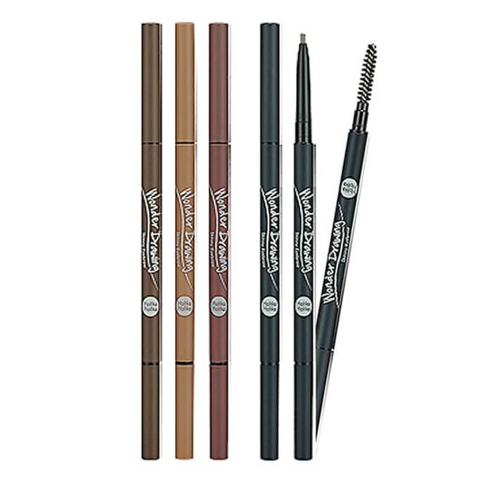 Купить Карандаш для бровей Holika Holika Wonder Drawing Skinny Eyebrow, Карандаш для бровей с витамином С и маслом дерева ши, Южная Корея