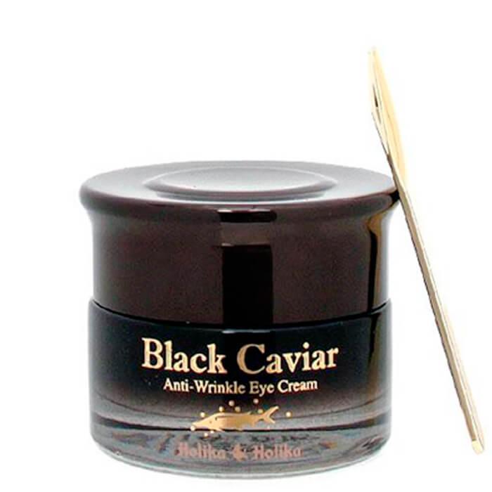 Купить Крем для глаз Holika Holika Black Caviar Anti-Wrinkle Eye Cream, Антивозрастной крем для век и области вокруг глаз с экстрактом чёрной икры, Южная Корея