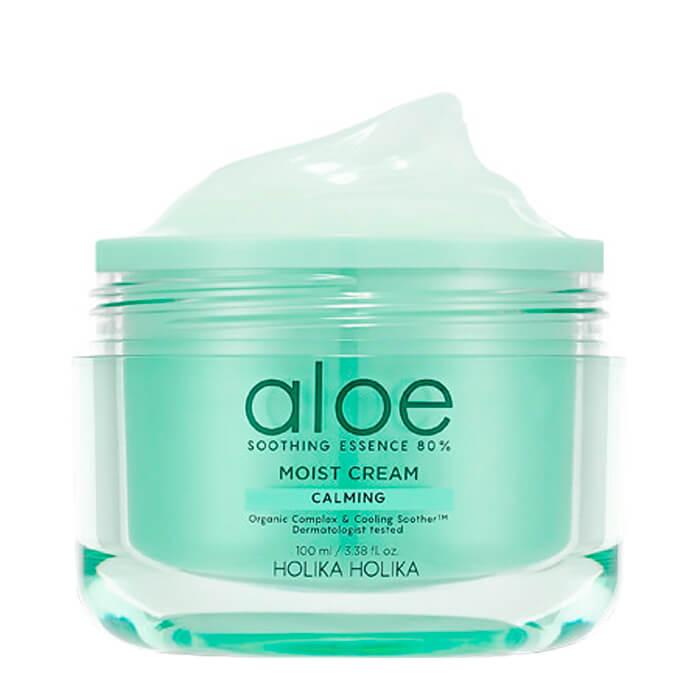 Купить Крем для лица Holika Holika Aloe Soothing Essence 80% Moist Cream, Увлажняющий крем для лица с 80% экстрактом алоэ вера, Южная Корея
