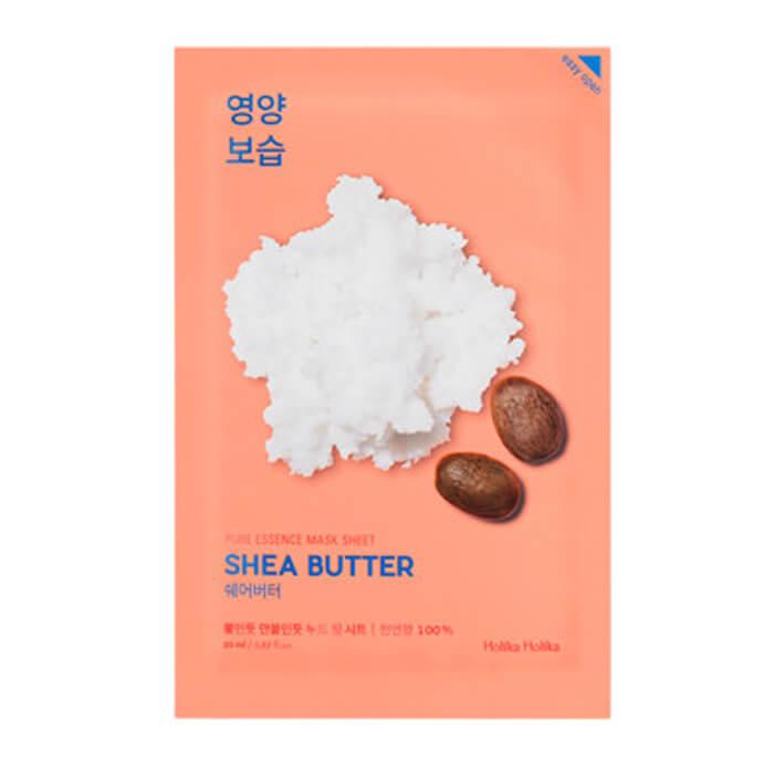 Купить Маска для лица Holika Holika Pure Essence Mask Sheet - Shea Butter, Питающая тканевая маска для лица с маслом ши, Южная Корея