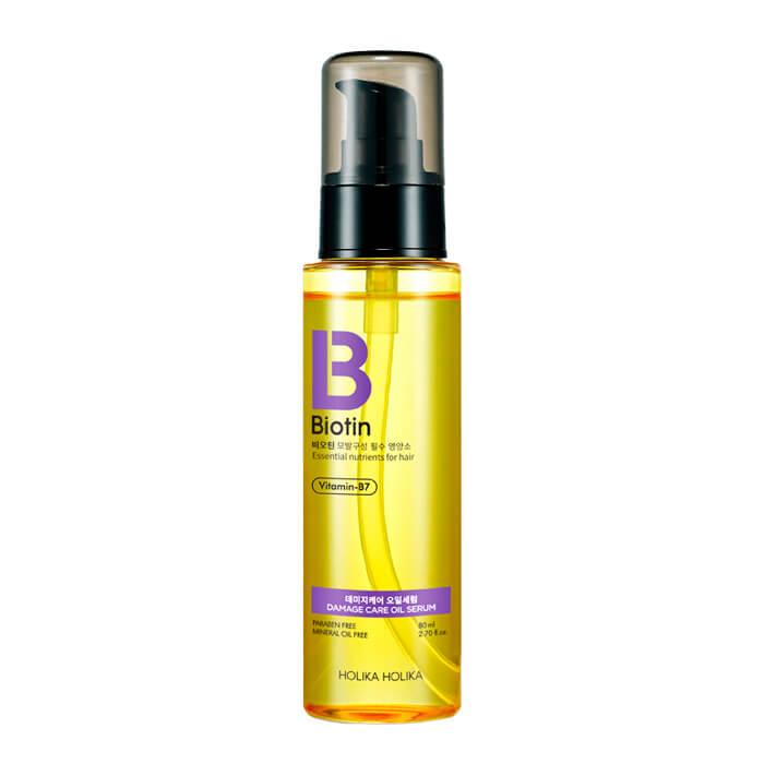 Купить Масляная сыворотка для волос Holika Holika Biotin Damage Care Oil Serum, Сыворотка для придания блеска и питания волос на масляной основе, Южная Корея
