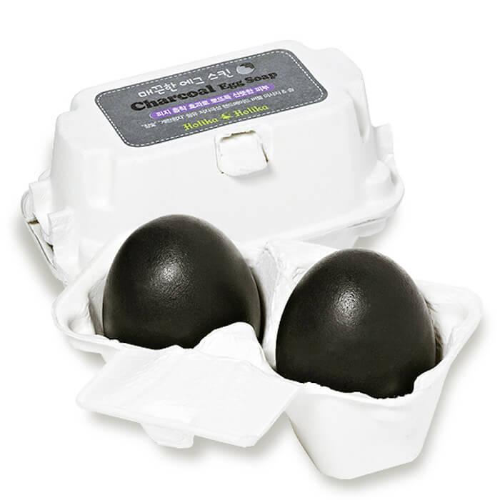 Мыло для лица Holika Holika Charcoal Egg Soap Мыло-маска для лица ручной работы с древесным углем
